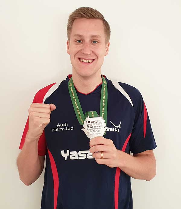 Mattias Falck – silver medalist in WTTC 2019