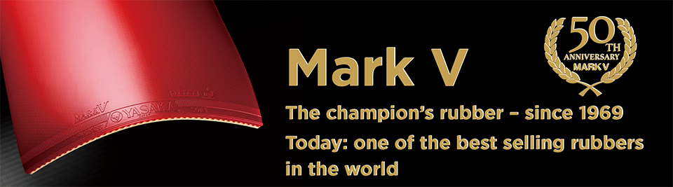 Mark V 50th anniversary - the champion's rubber. One of the best selling rubbers in the world