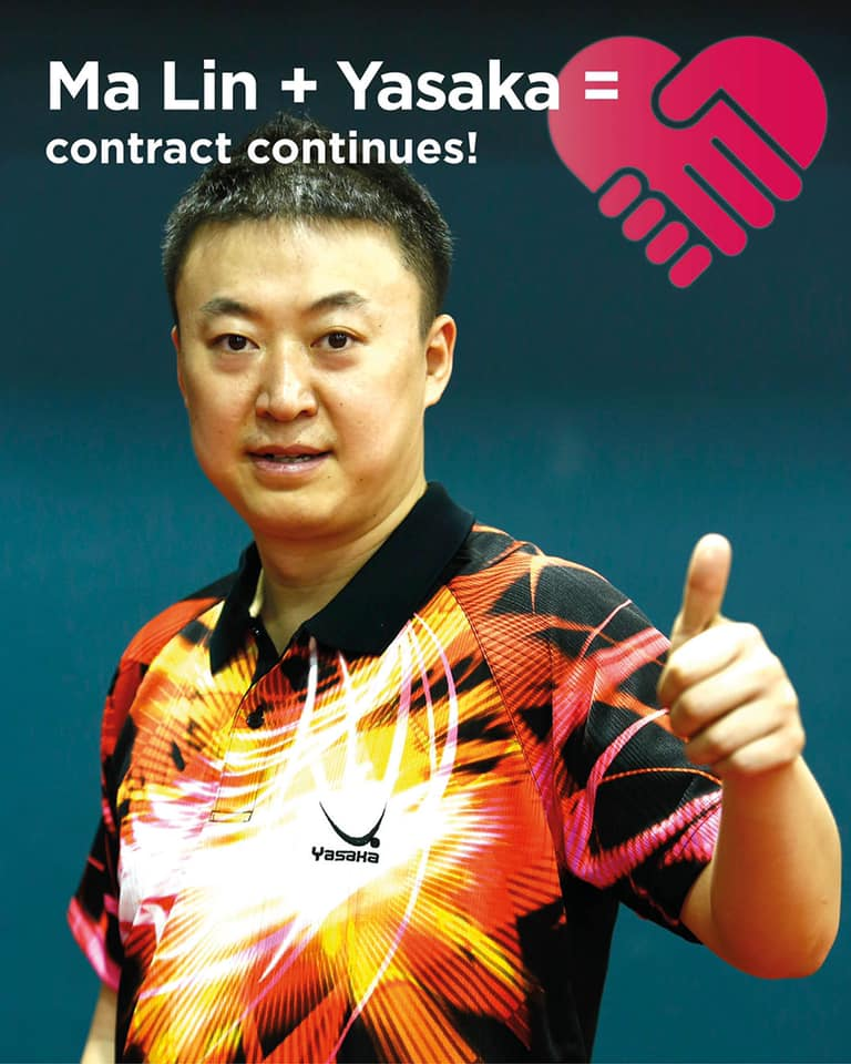 Ma Lin and Yasakas contract continues